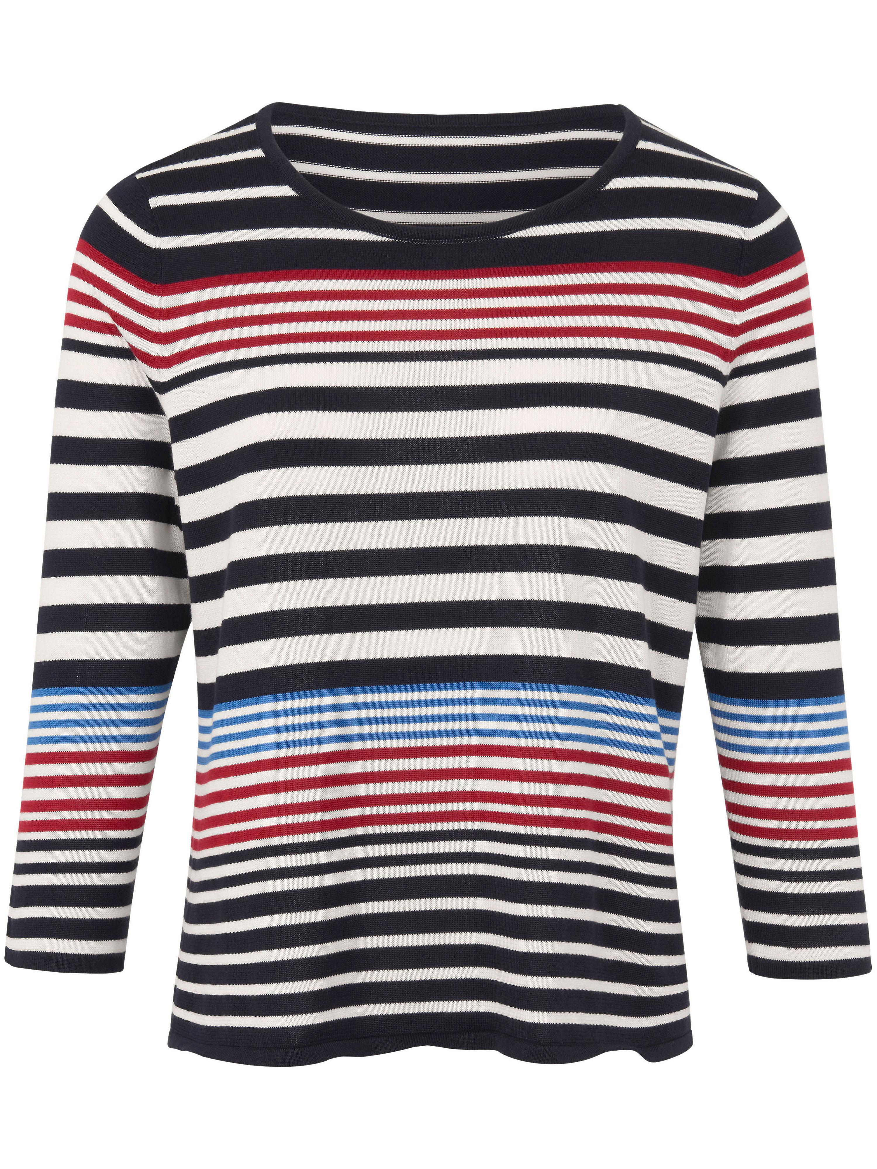 Rundhals-Pullover 3/4-Arm Peter Hahn mehrfarbig | Bekleidung > Pullover | Weiß | Peter Hahn