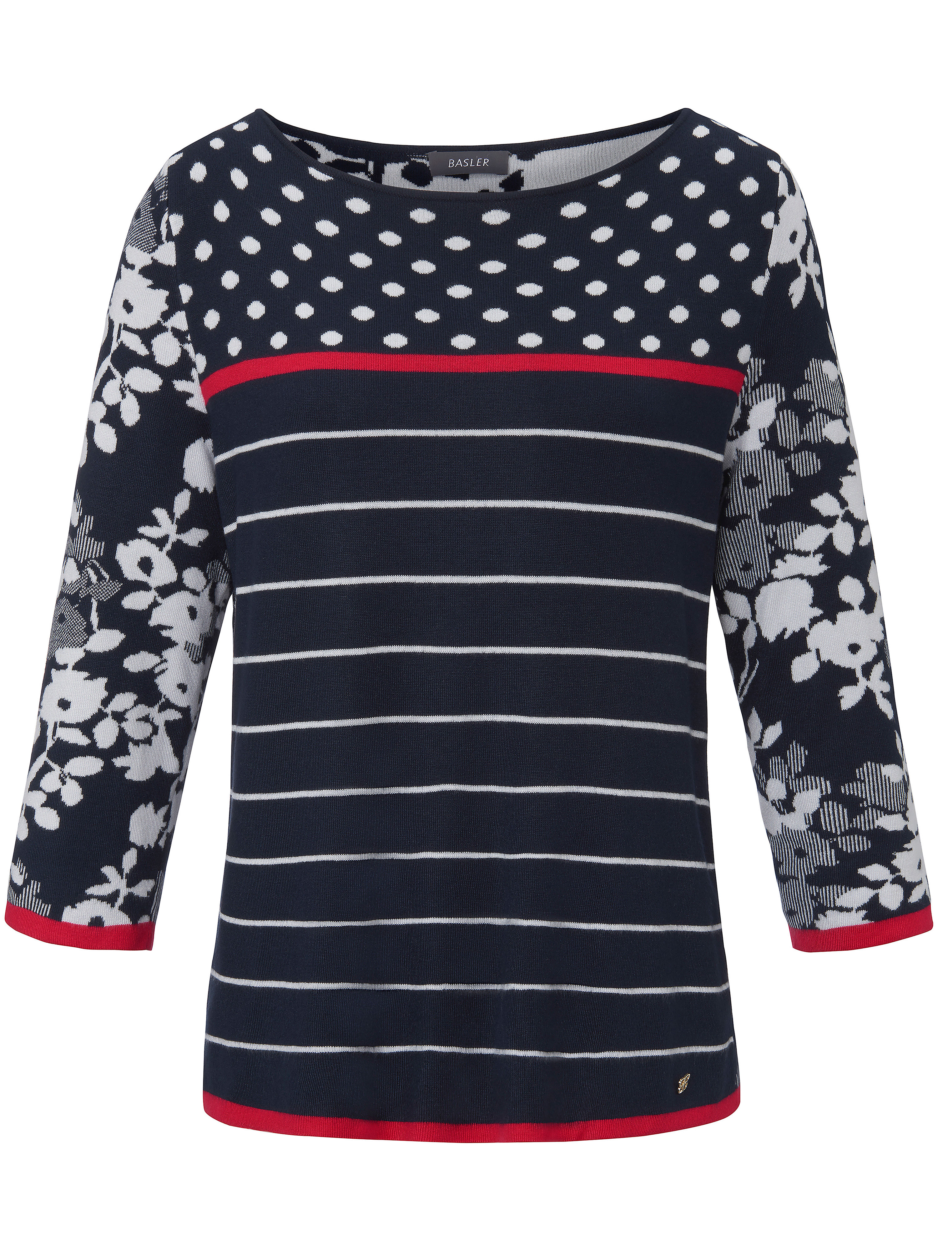 Le pull à manches 3/4  Basler multicolore taille 54