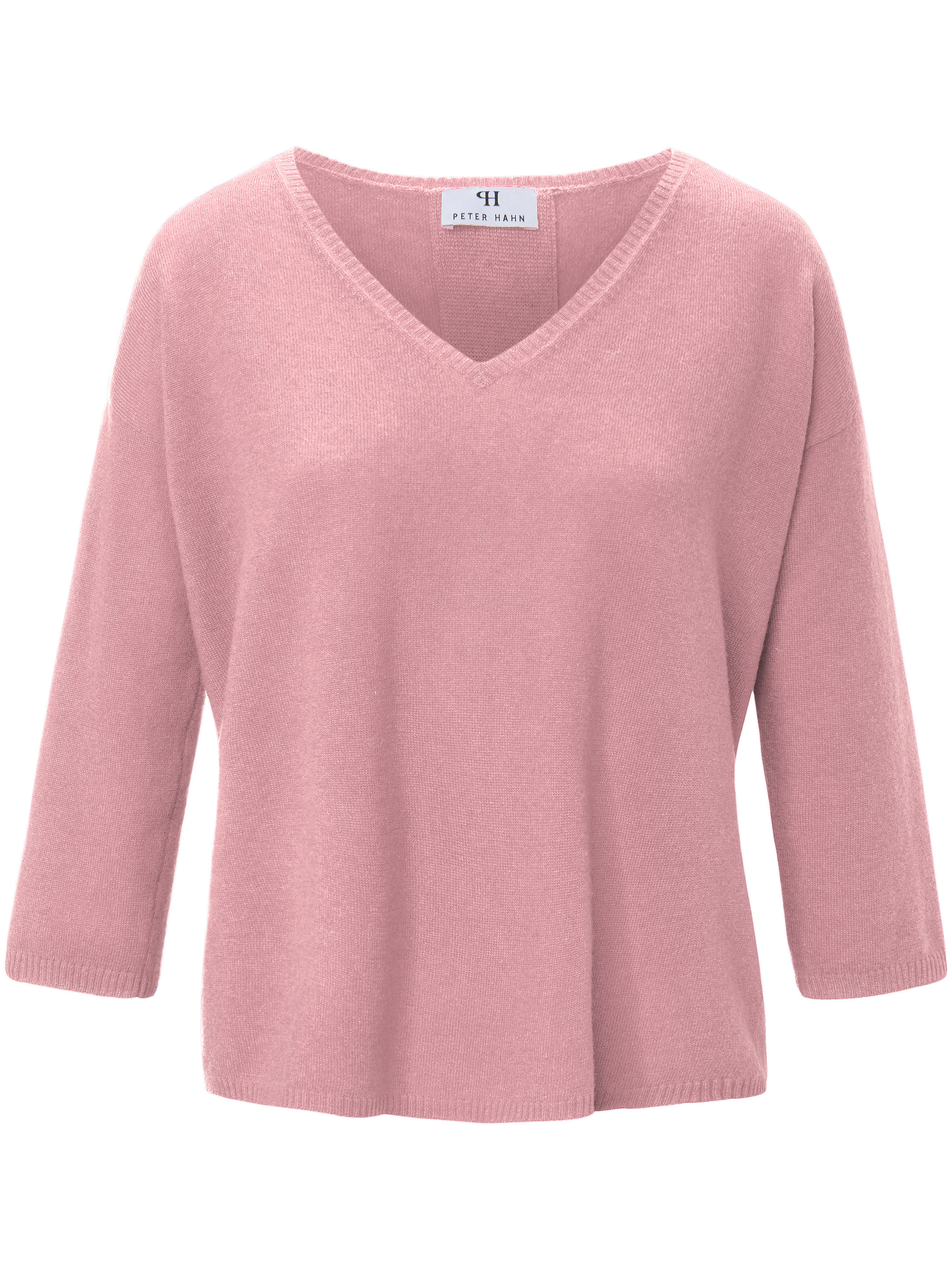 Le pull 100% laine vierge manches 3/4  Peter Hahn rose taille 44
