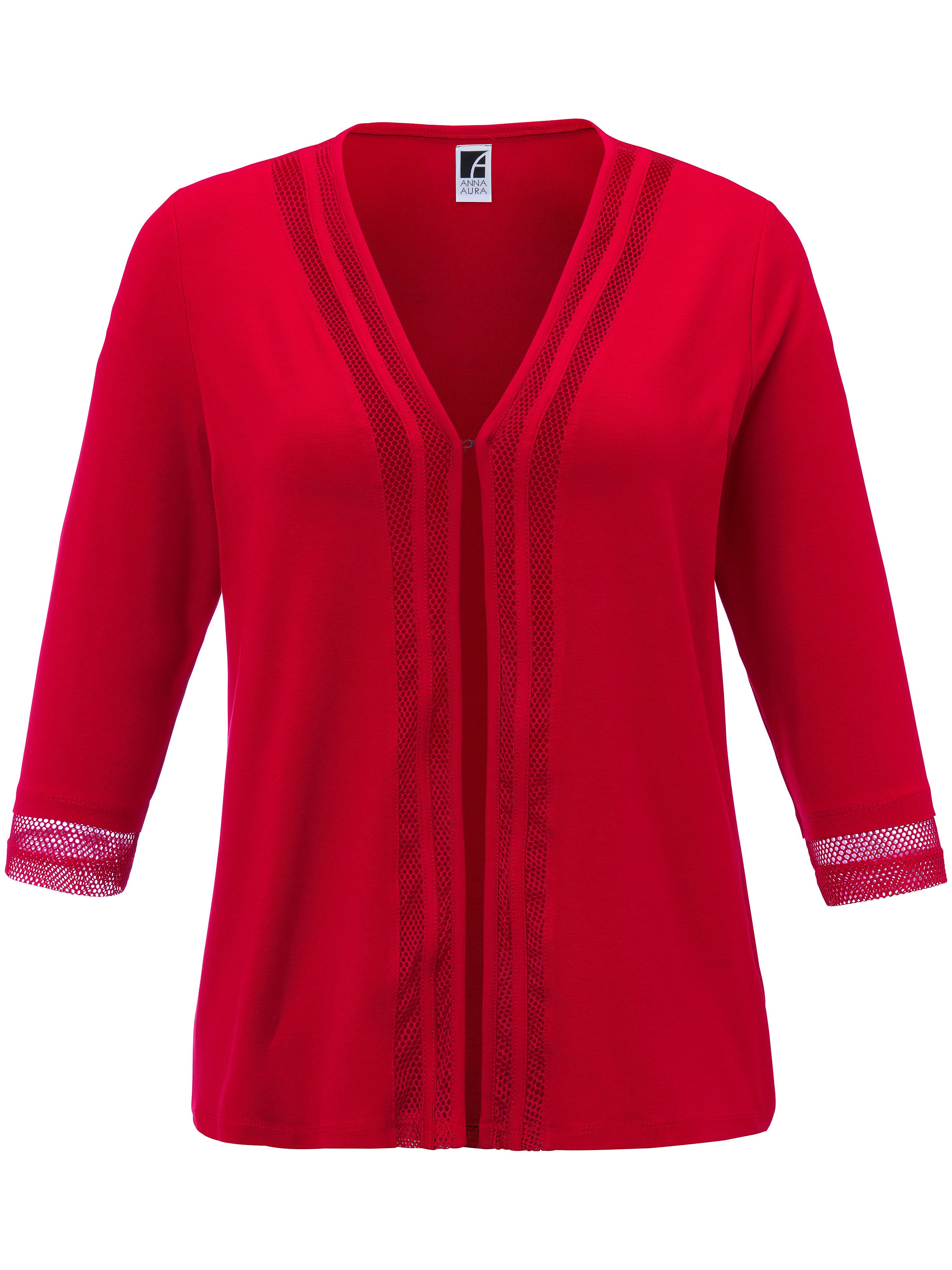 Le gilet manches 3/4  Anna Aura rouge taille 58