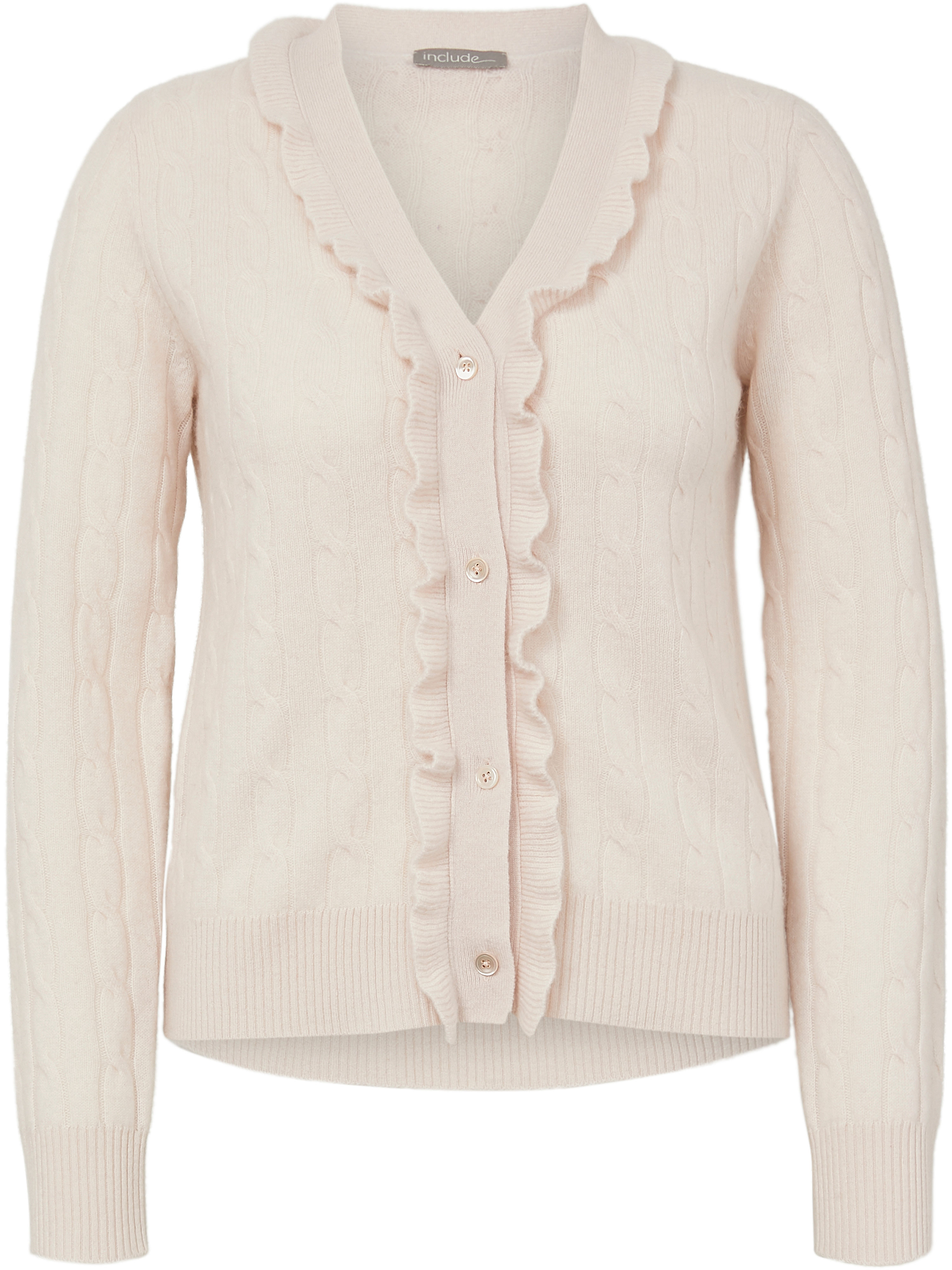 Le gilet 100% cachemire  include rose taille 42