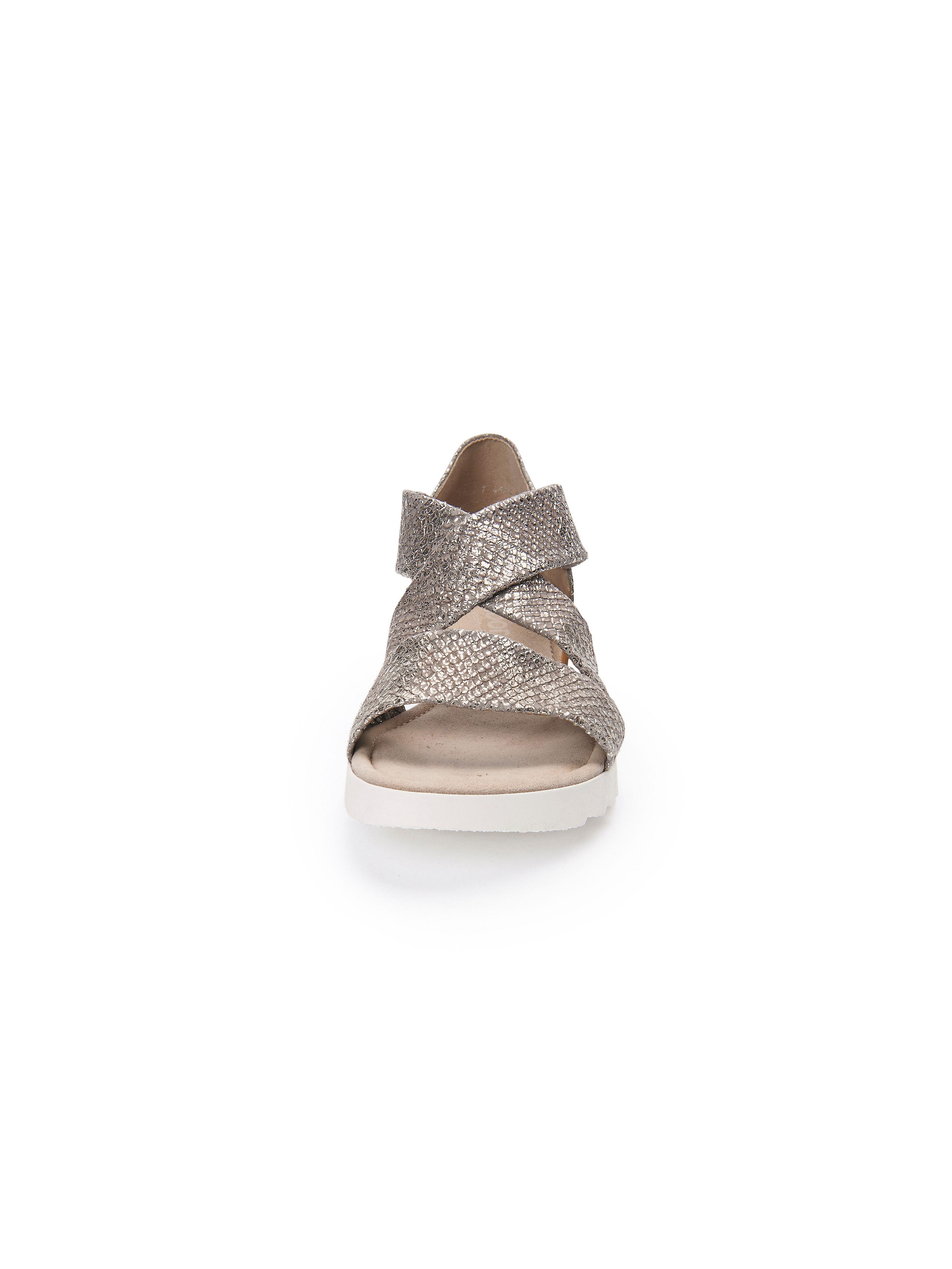 Gabor - Sandale aus Gute 100% Leder - Taupe-Metallic Gute aus Qualität beliebte Schuhe d93e01