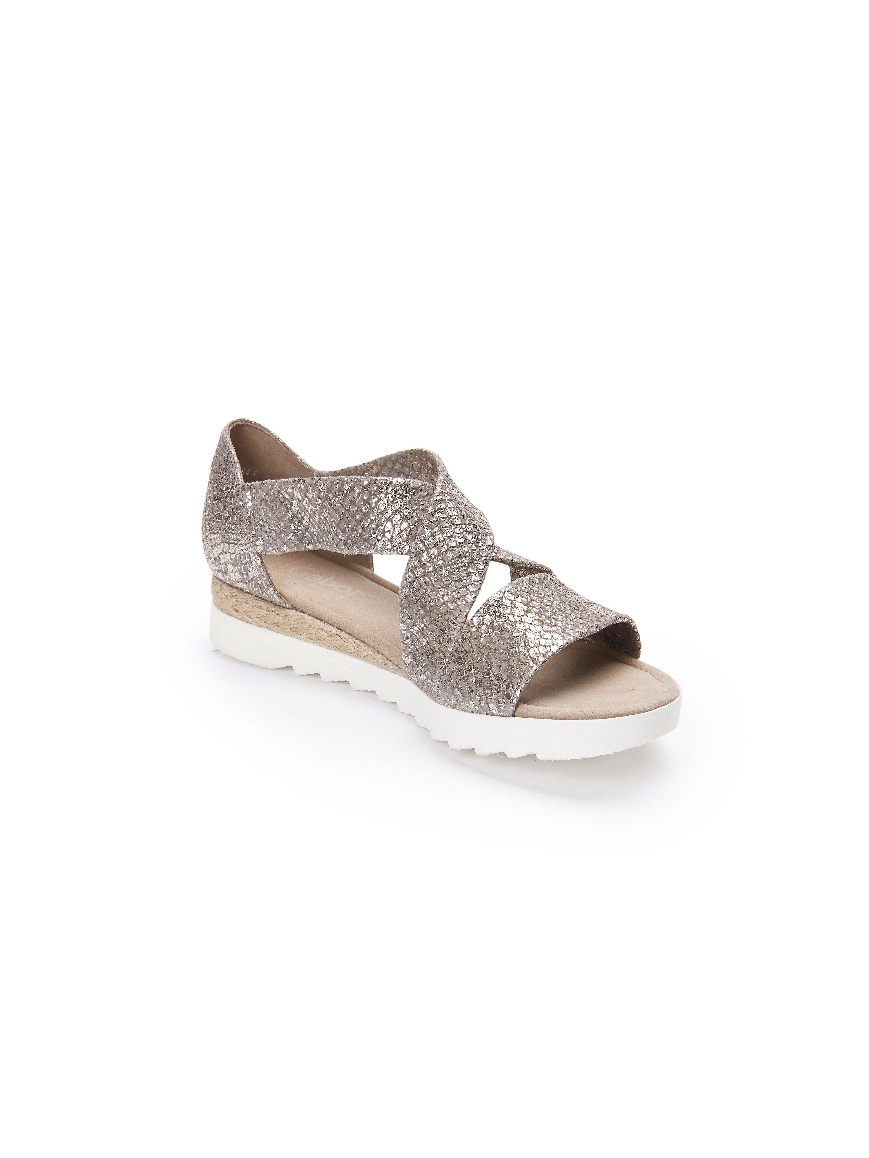 Gabor - Sandale aus 100% Leder - Taupe-Metallic Gute Qualität beliebte Schuhe