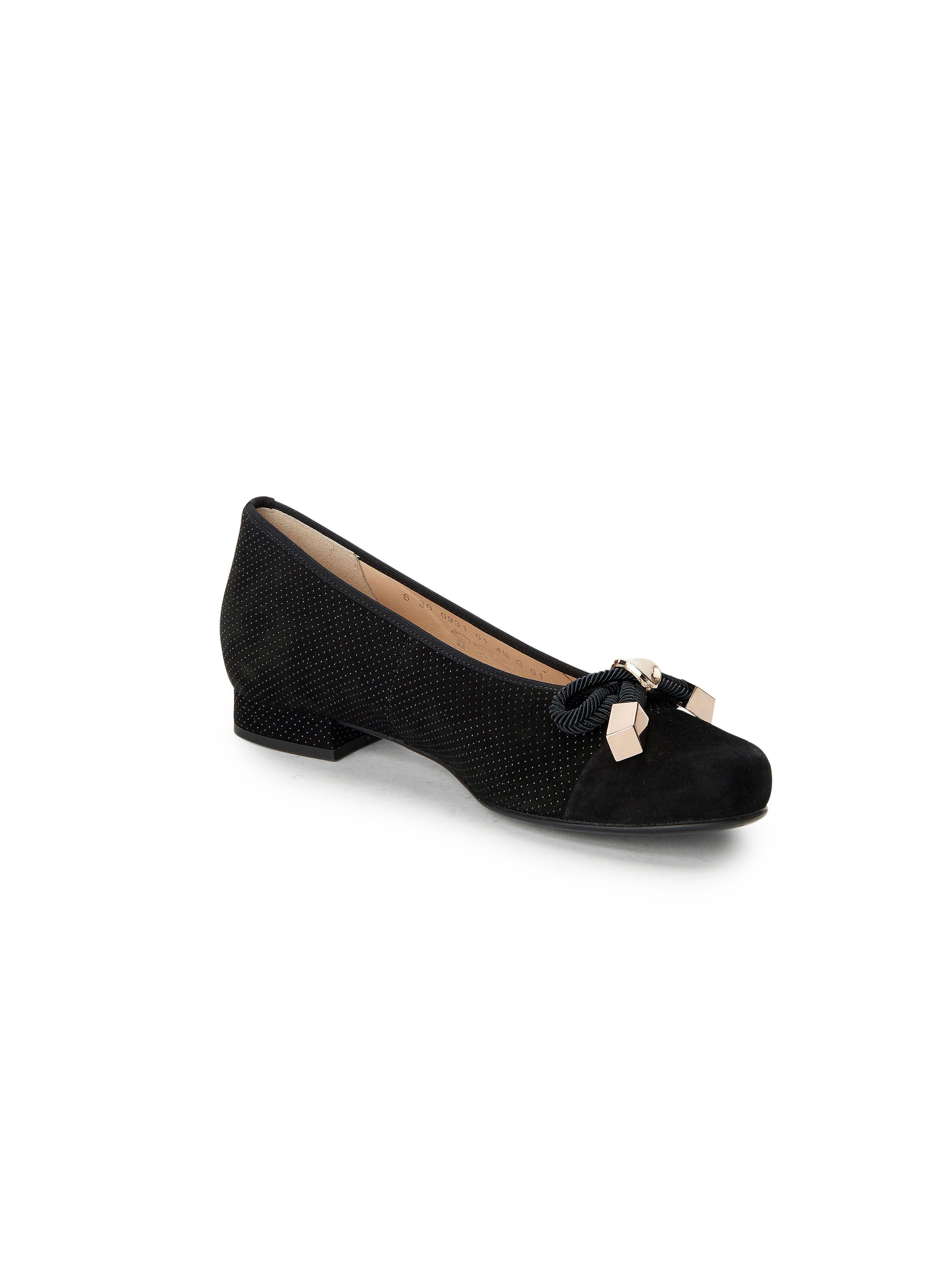 Hassia - Femininer Ballerina Bologna G aus 100% Leder - Schwarz Gute Qualität beliebte Schuhe