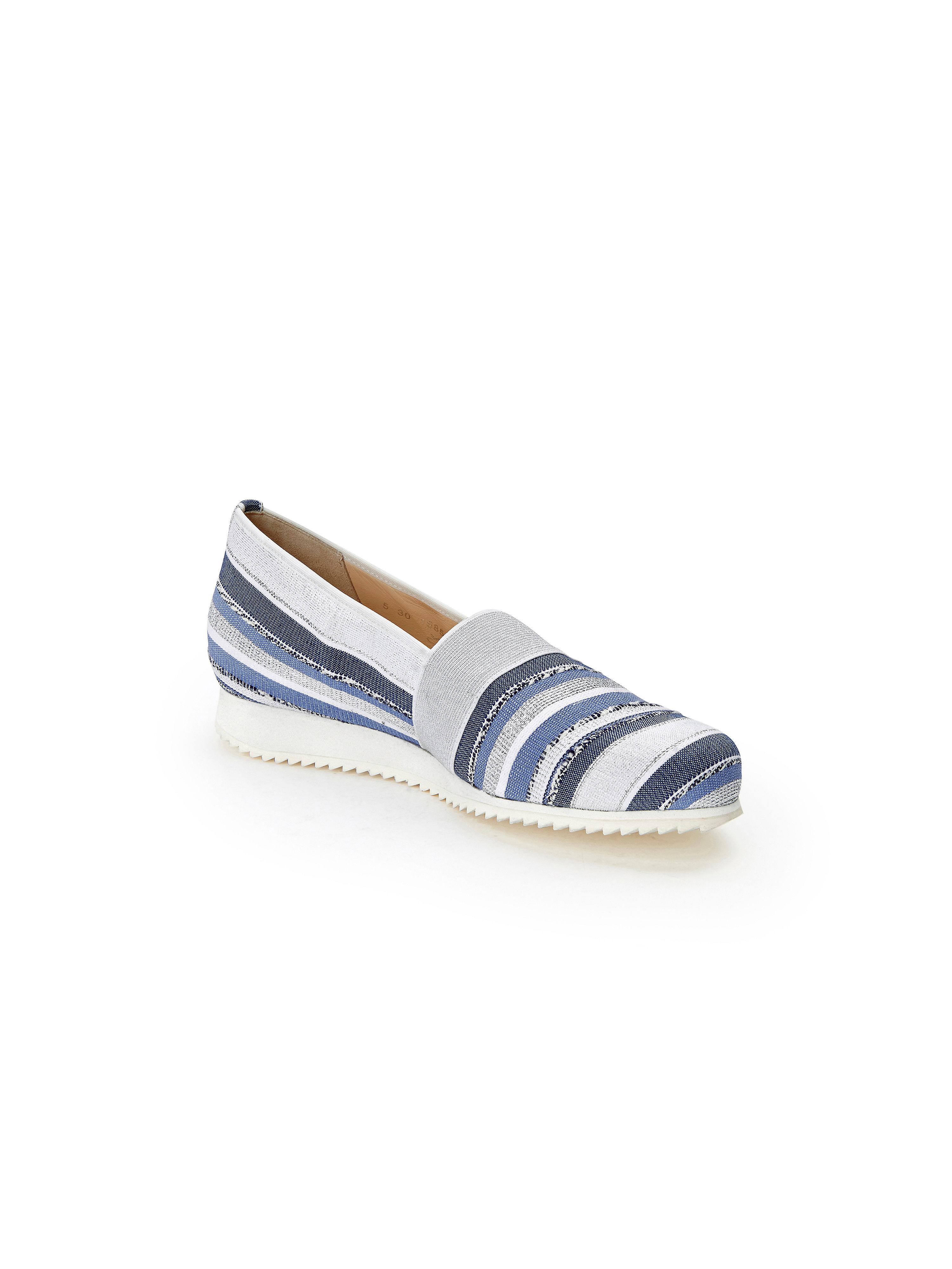 Hassia - Slipper mit Glitzer-Effekt - Blau/Weiß/Silber Gute Qualität beliebte Schuhe