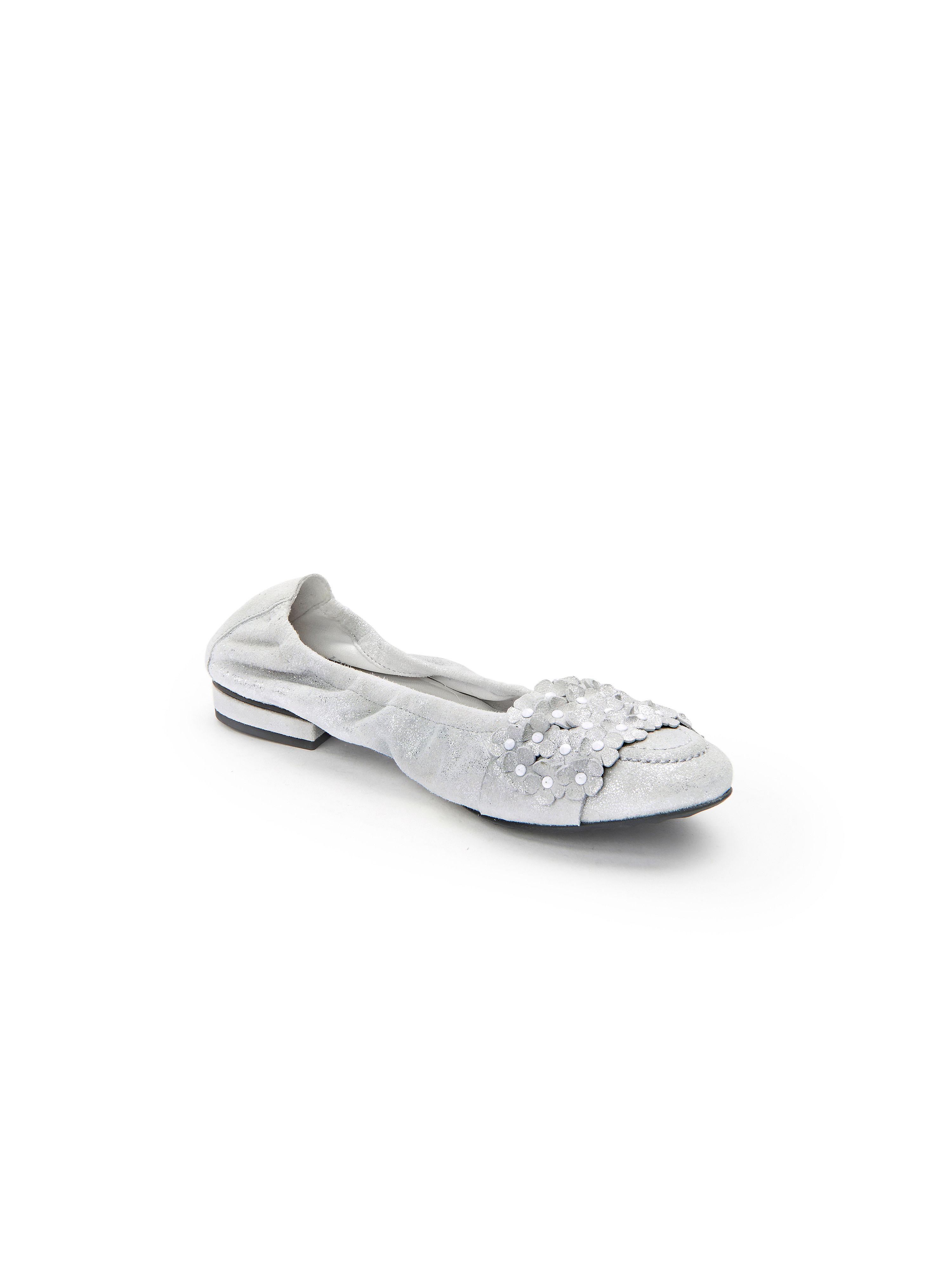 Kennel & Schmenger - Ballerina Malu aus 100% Leder - Silber-Metallic Gute Qualität beliebte Schuhe