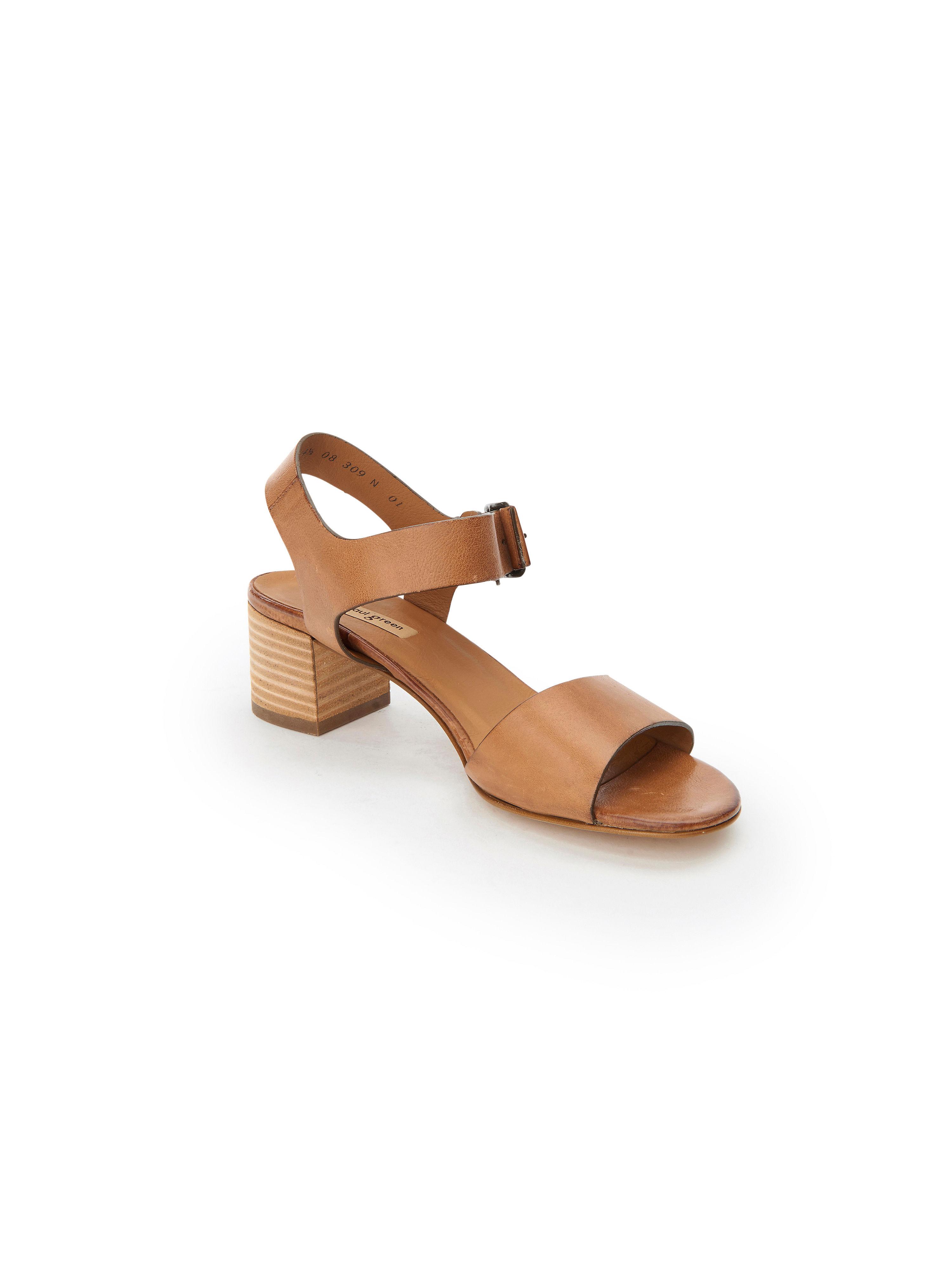 Paul Green - Sandale aus 100% Leder - Cognac Gute Qualität beliebte Schuhe