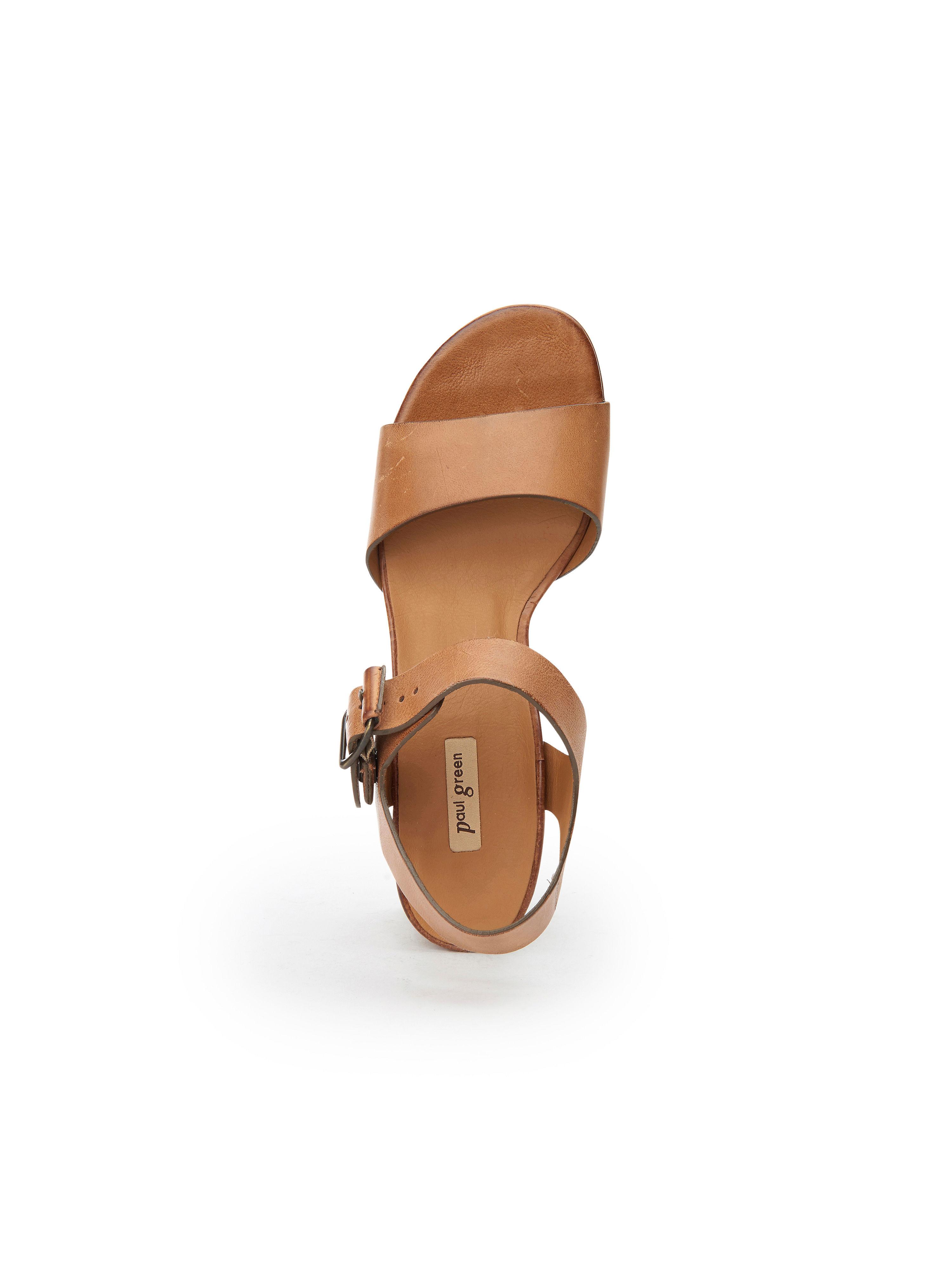 Paul Green - Sandale Cognac aus 100% Leder - Cognac Sandale Gute Qualität beliebte Schuhe 57219b