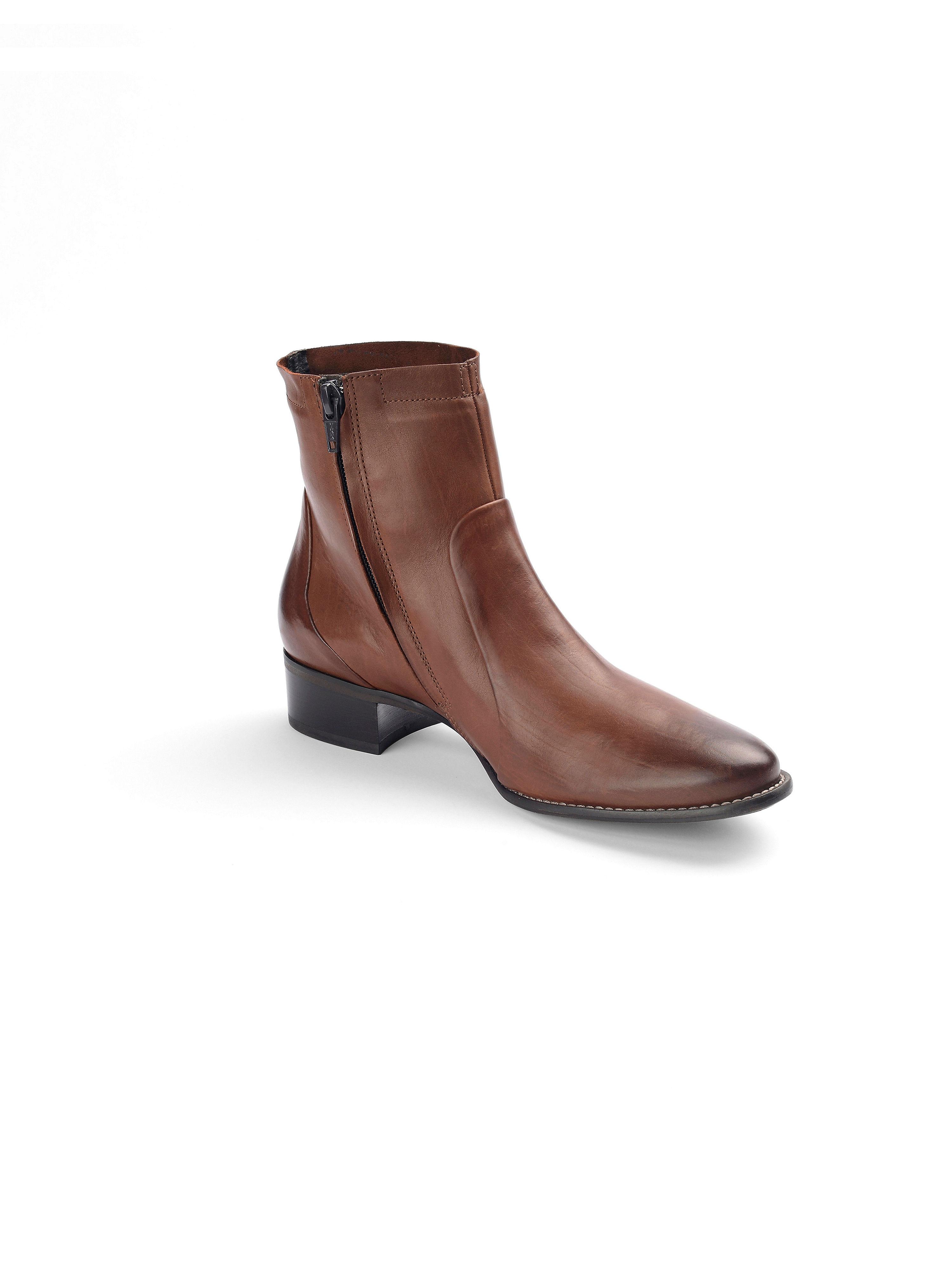 Paul Green - Schlichte Stiefelette aus 100 Leder - Cognac Gute Qualität beliebte Schuhe