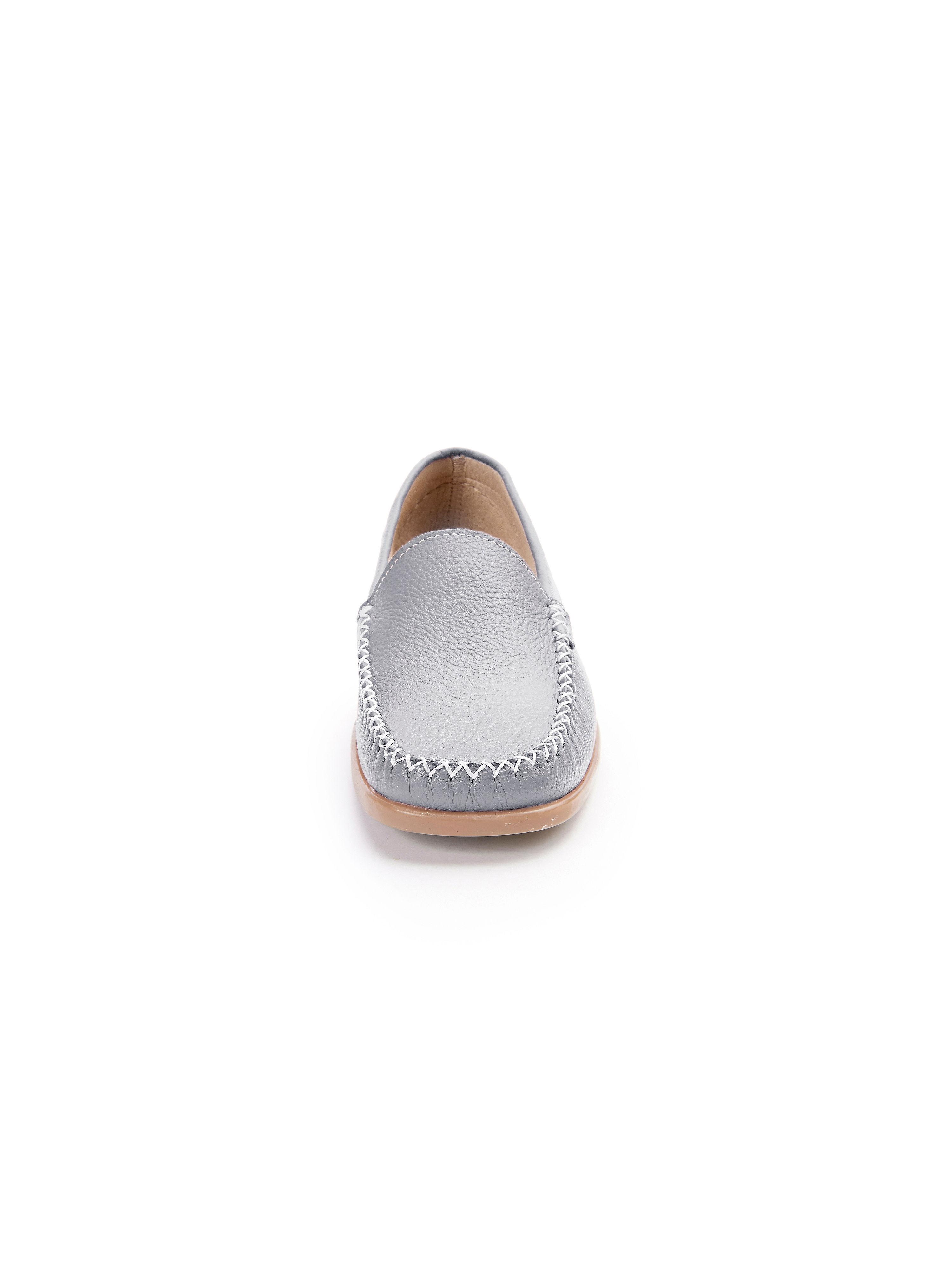Peter Hahn - Mokassin Mokassin Mokassin aus 100% Leder - Silber Gute Qualität beliebte Schuhe 02b28e