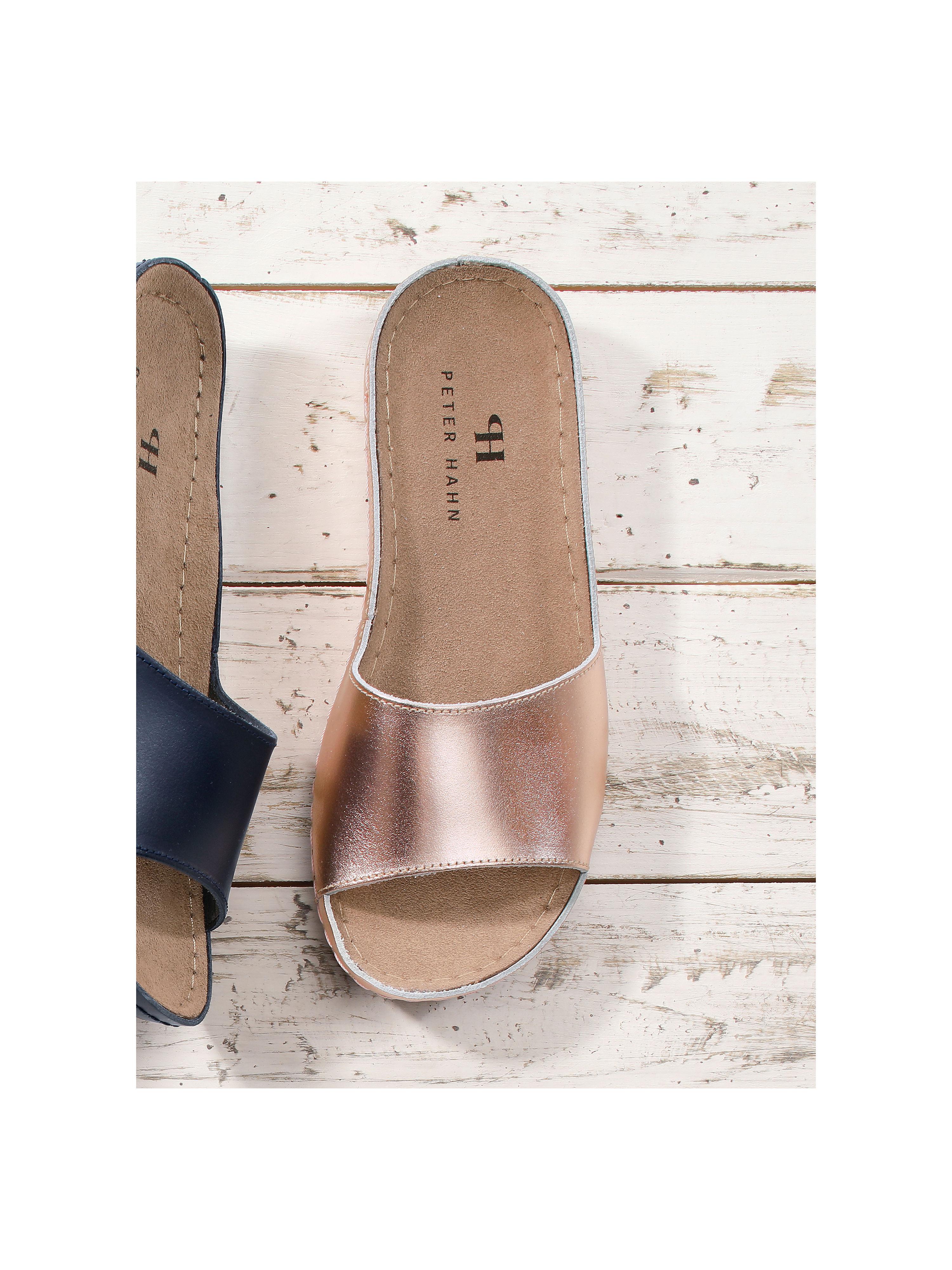 Peter Hahn - Pantolette aus 100% Qualität Leder - Rosegold-Metallic Gute Qualität 100% beliebte Schuhe 3ca29b