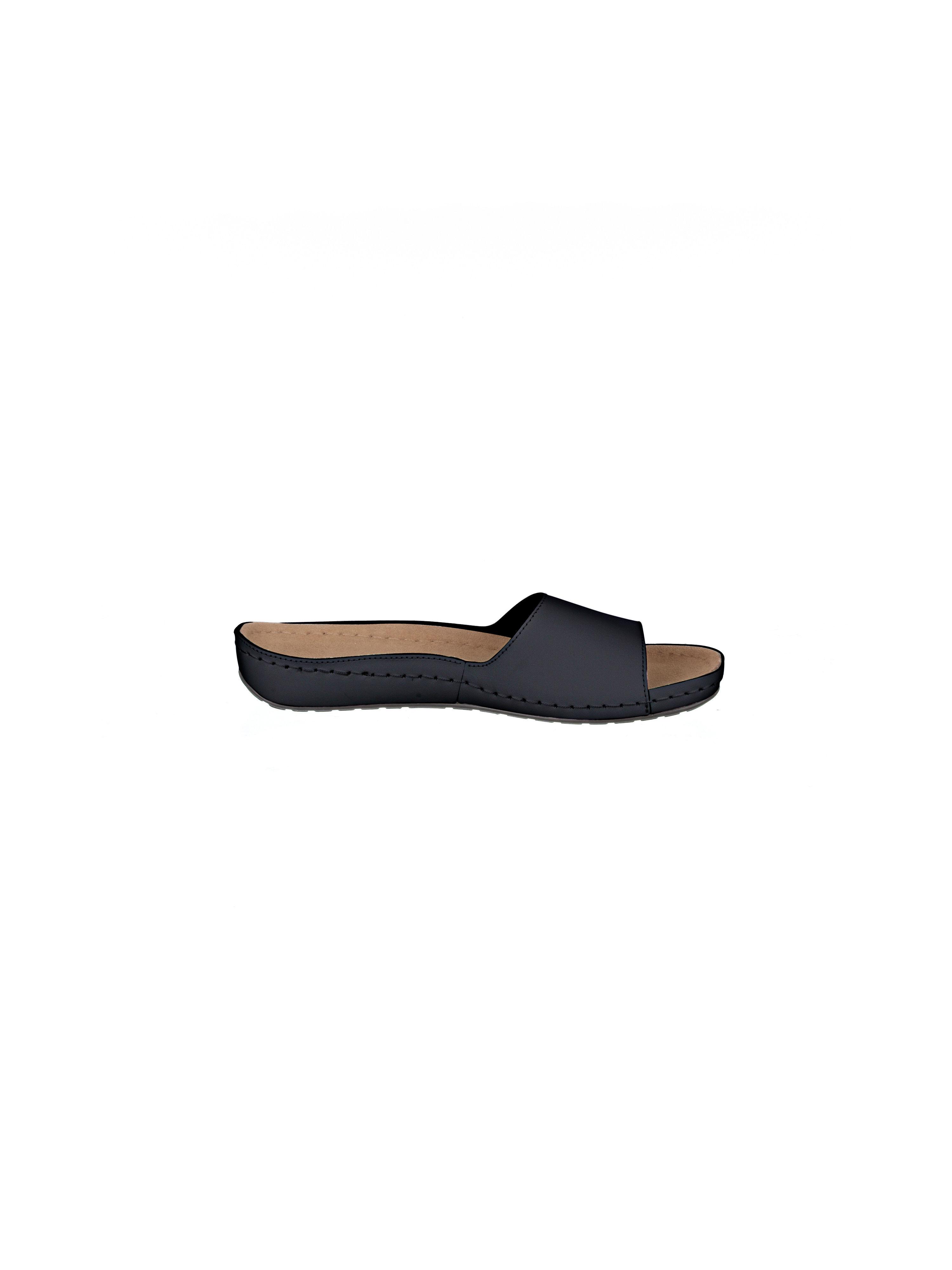 Peter Hahn - Pantolette aus 100% Leder - Schwarz Gute Qualität beliebte Schuhe