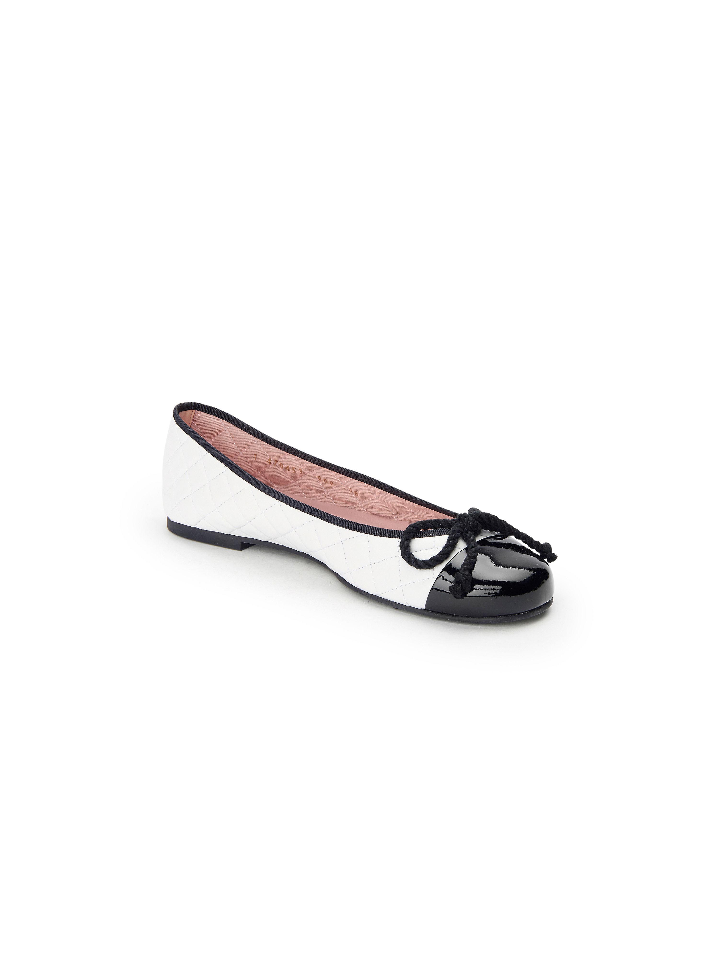 Pretty Ballerinas - - Ballerina aus 100% Leder - - Weiß/Schwarz Gute Qualität beliebte Schuhe a6665e