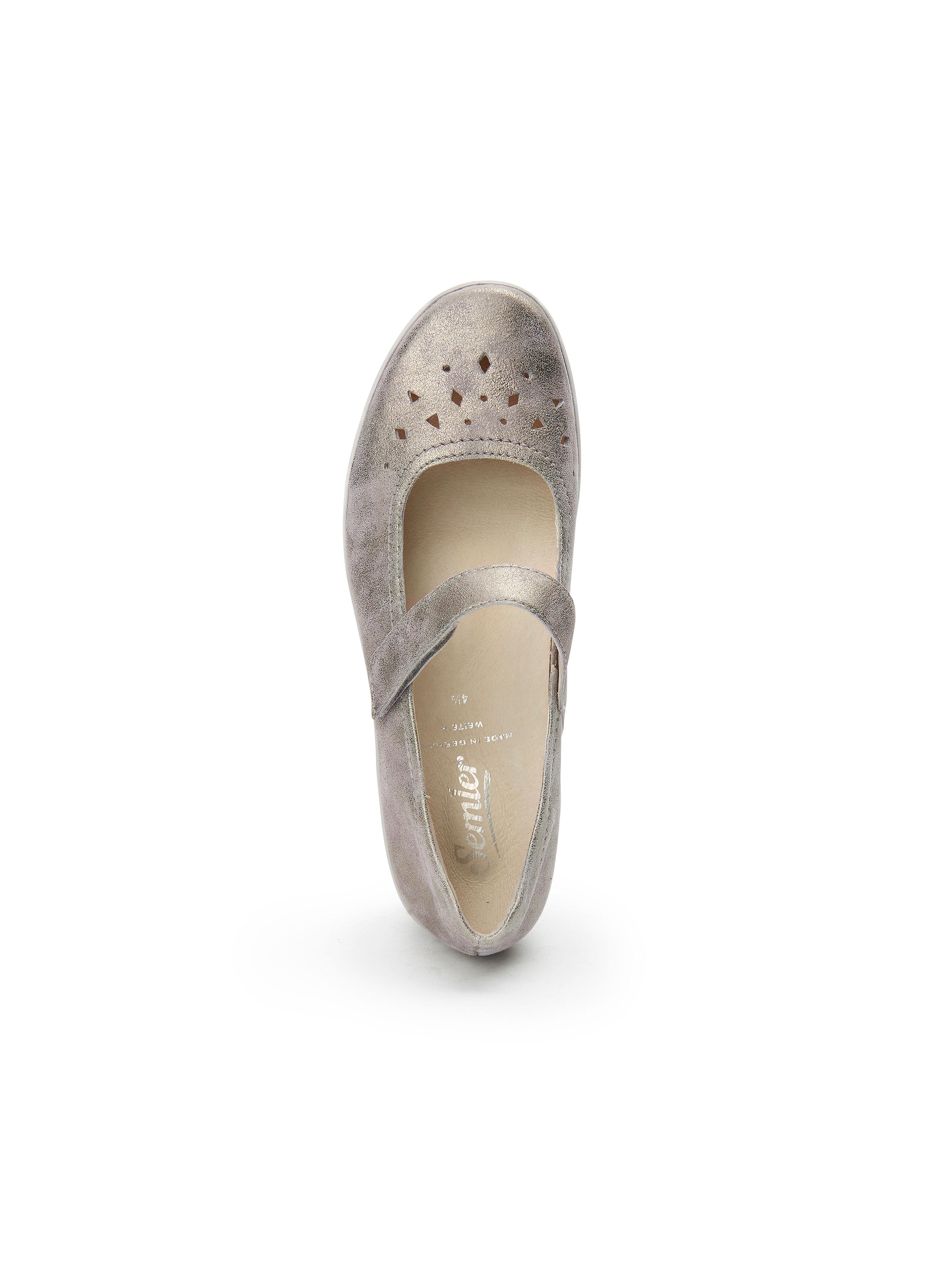 Semler 100% - Ballerina Judith aus 100% Semler Leder - Taupe-Metallic Gute Qualität beliebte Schuhe 1ff44f