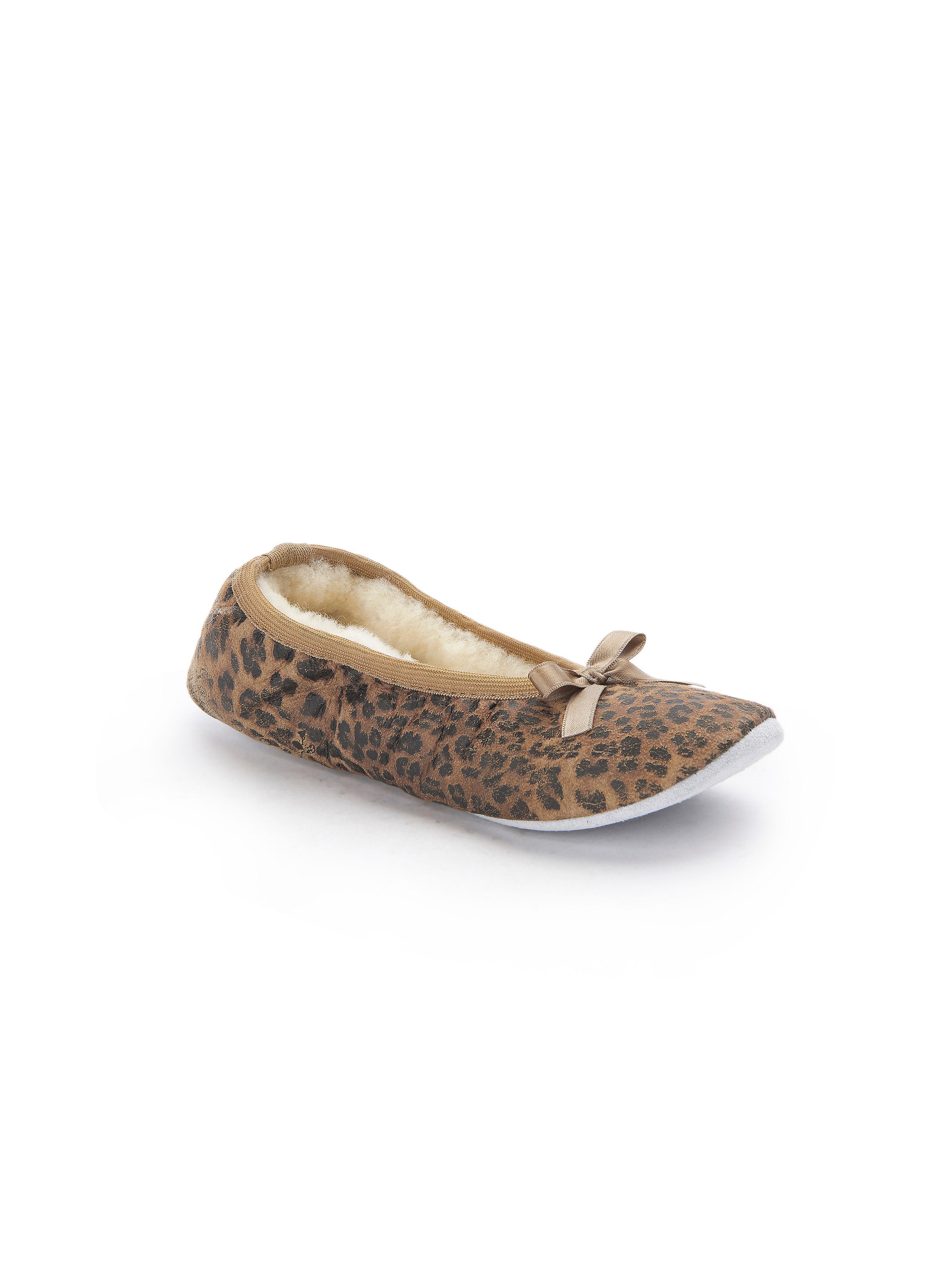 Shepherd - Femininer Ballerina - Braun-Schwarz Gute Qualität beliebte Schuhe