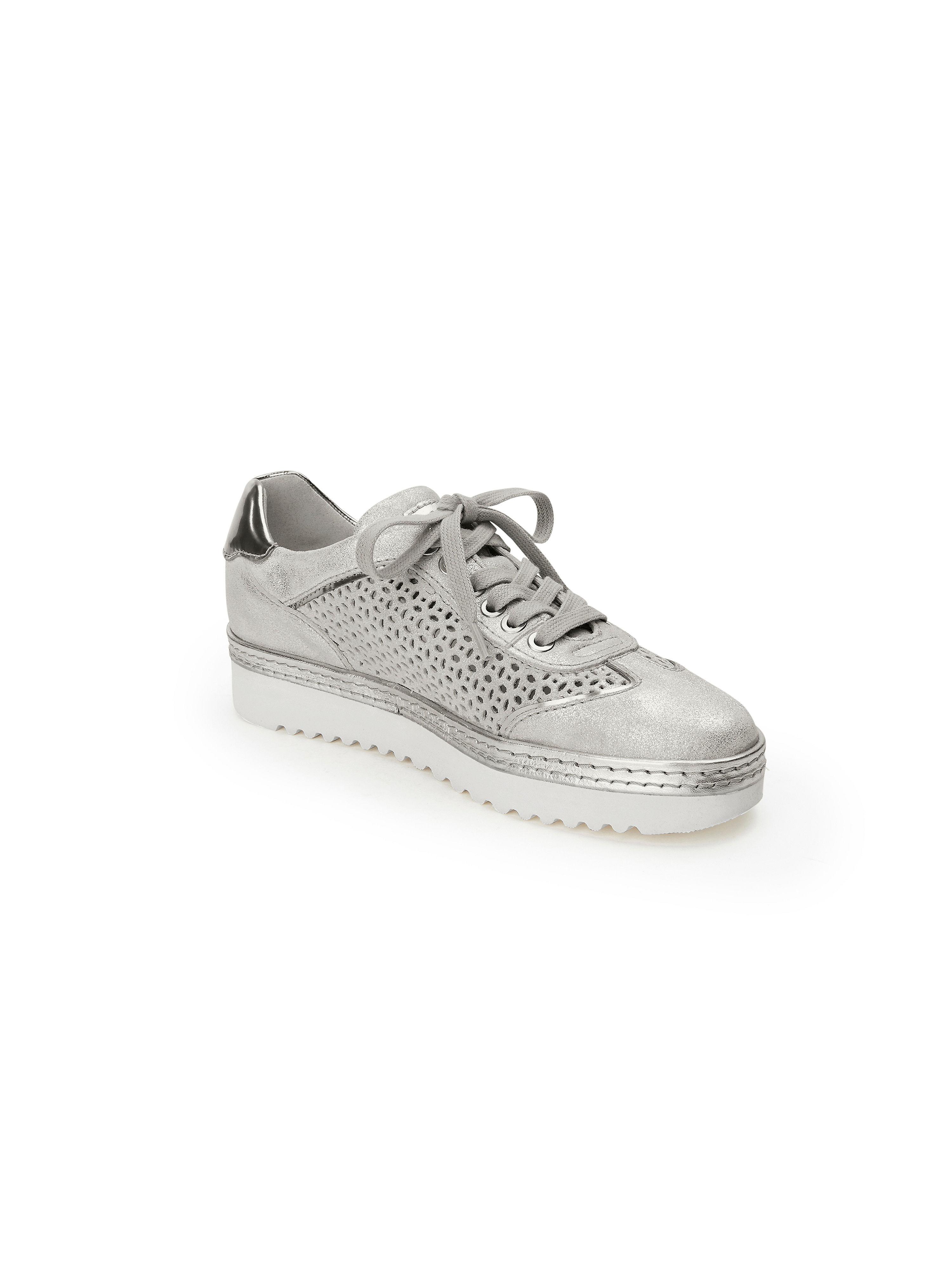 Sioux - Sneaker Oxiria aus 100% Leder - Silber-Metallic Gute Qualität beliebte Schuhe