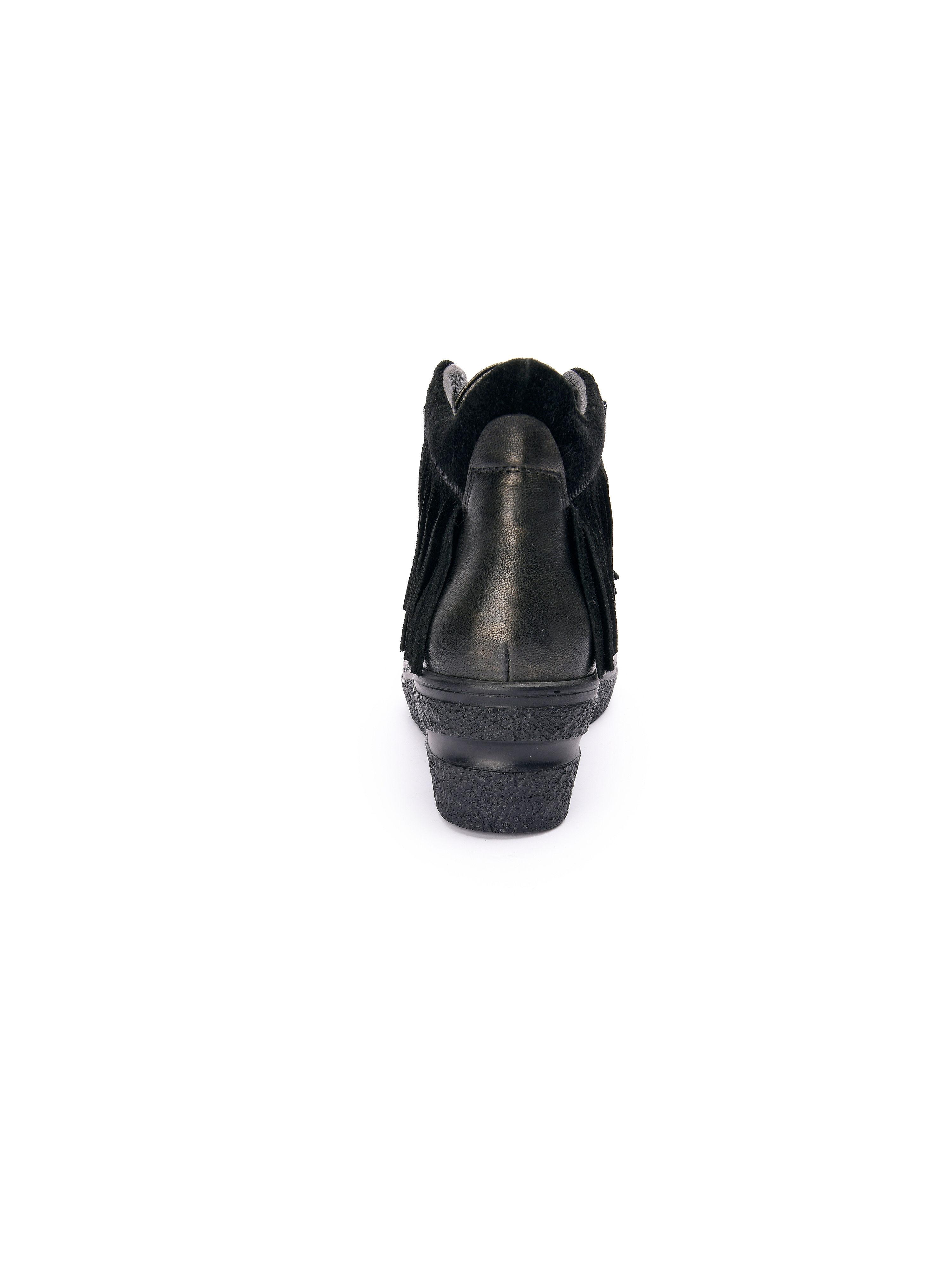 Softwaves - Gute knöchelhoher Schnürer - Schwarz-Metallic Gute - Qualität beliebte Schuhe fc49be