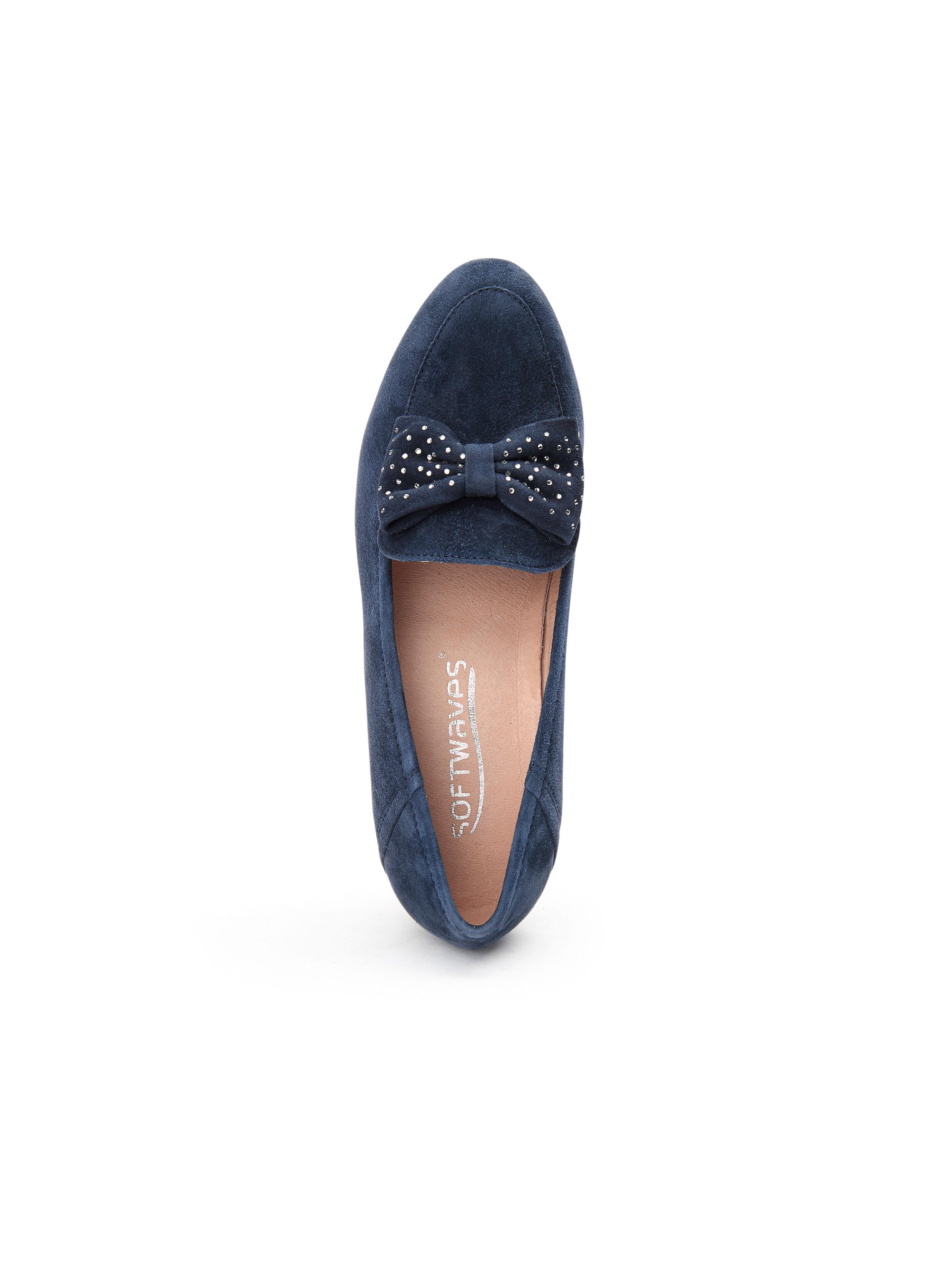 Softwaves - Slipper aus 100% Qualität Leder - Marine Gute Qualität 100% beliebte Schuhe a63eb7