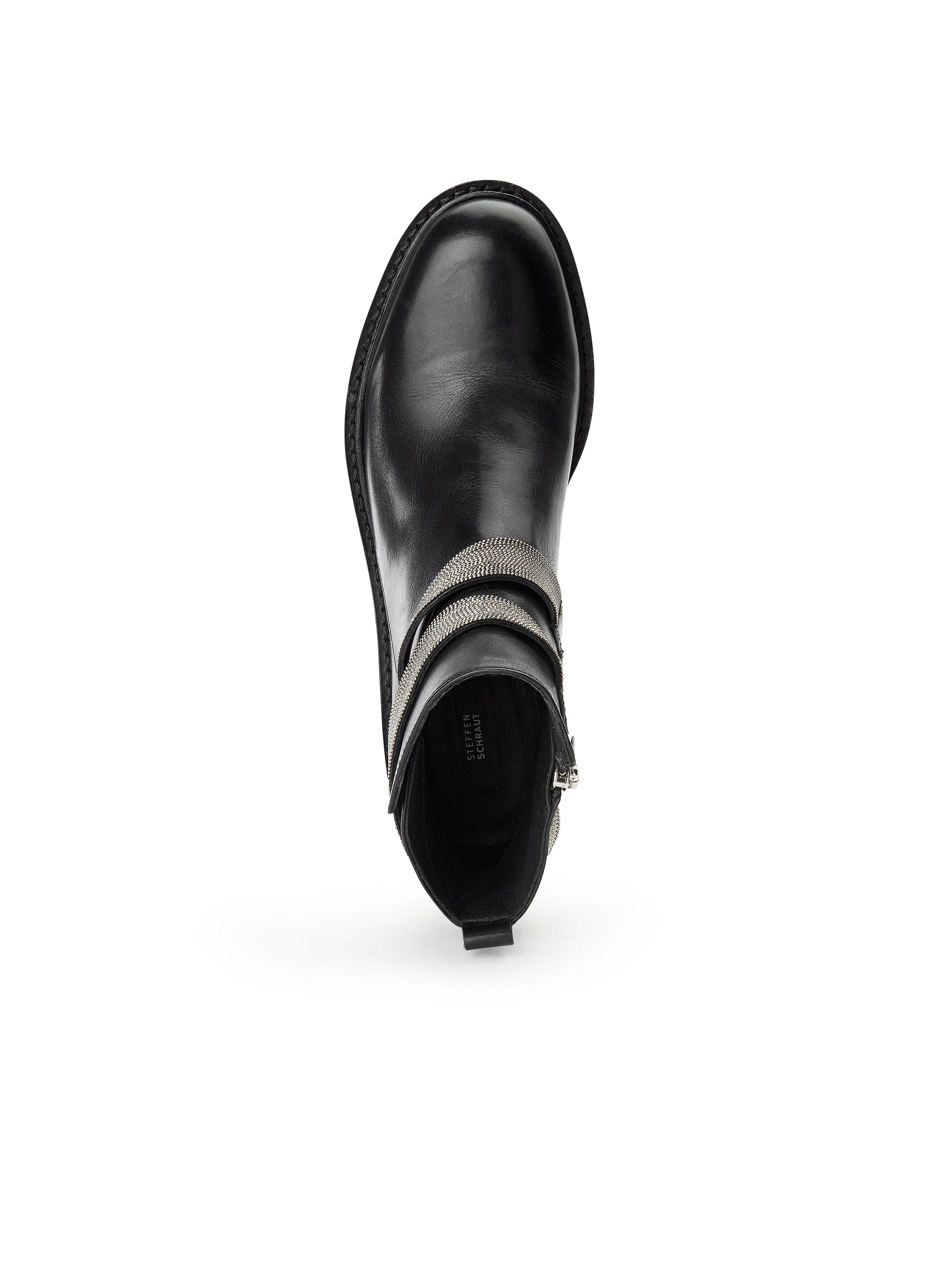 Steffen Schraut - Stiefelette Schwarz aus 100% Leder - Schwarz Stiefelette Gute Qualität beliebte Schuhe efa7c1