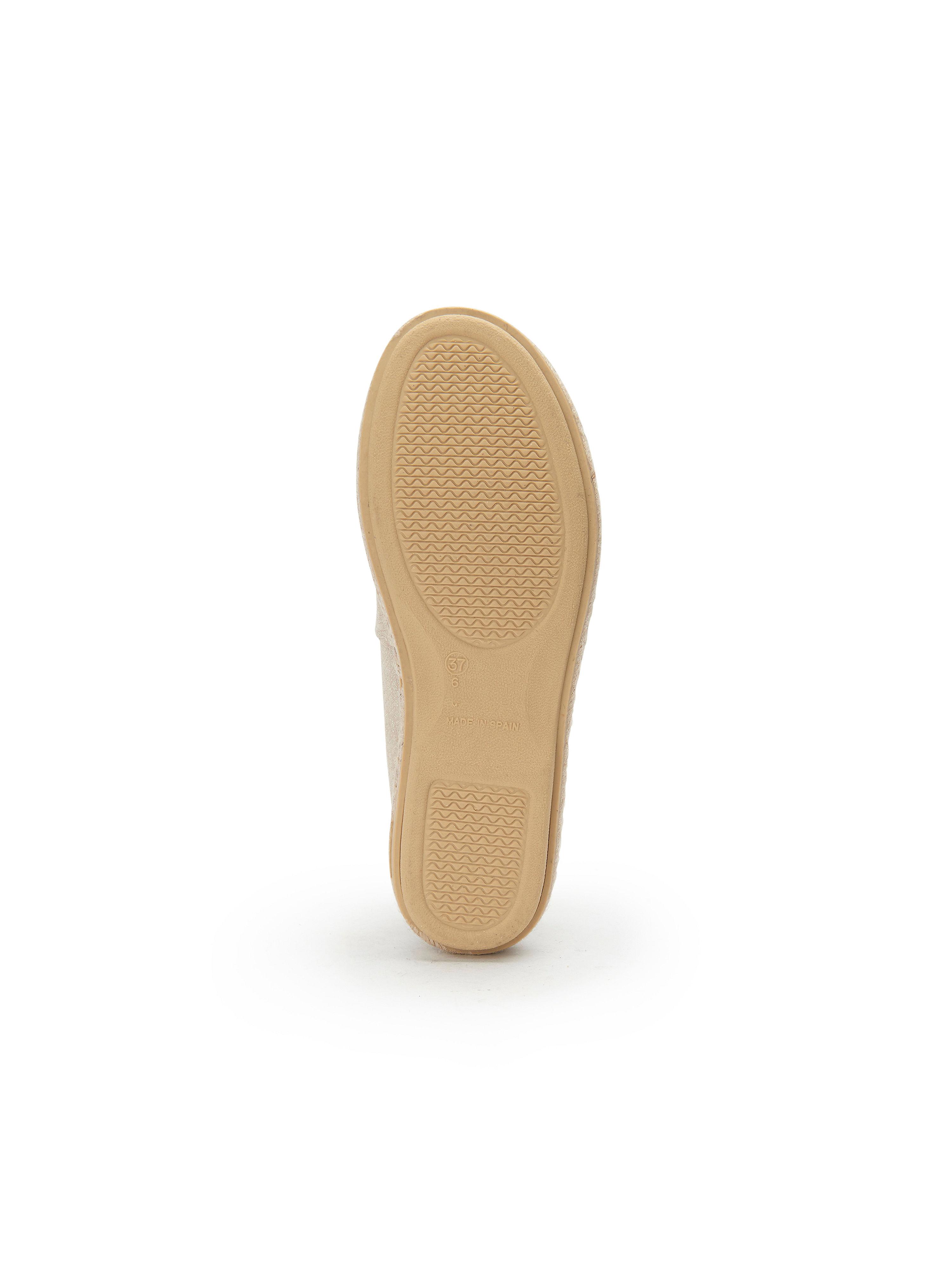 THIES - - Hausschuh aus 100% Leder - - Ecru-Metallic Gute Qualität beliebte Schuhe f8f3d3
