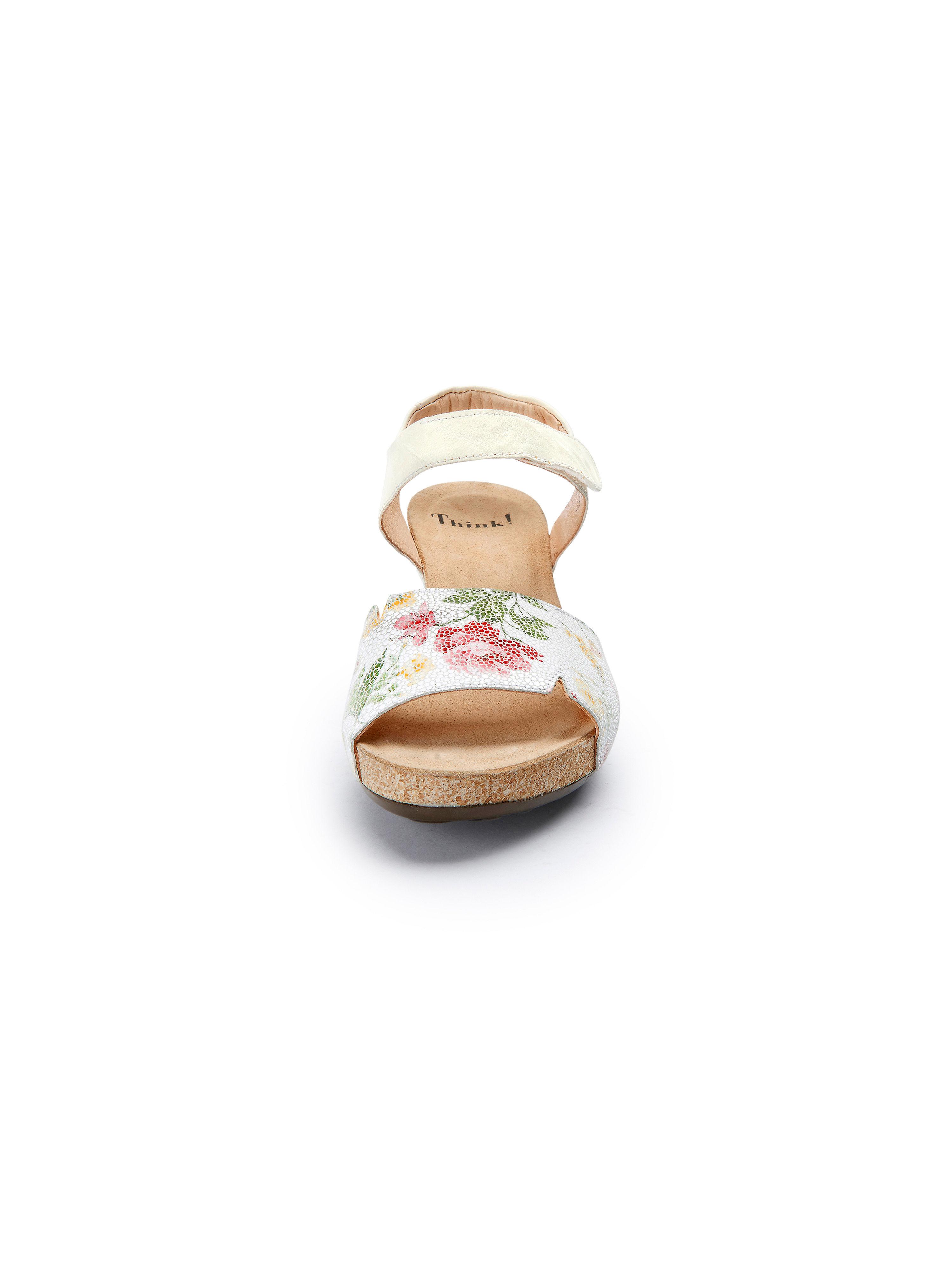 Think! - Plateau-Sandale Traudi aus 100% Leder beliebte - Weiß/Multicolor Gute Qualität beliebte Leder Schuhe f21d08