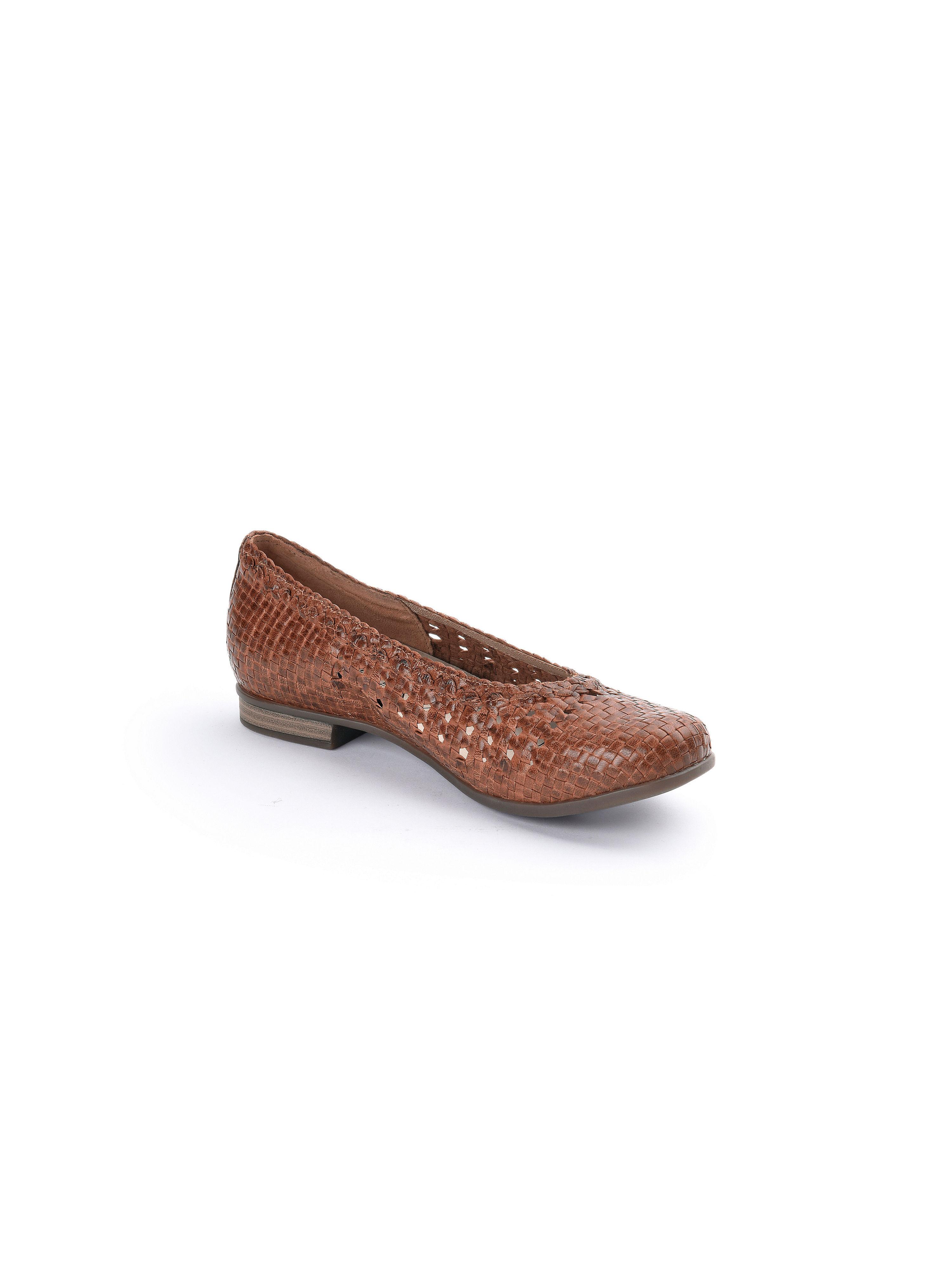 "Waldläufer - Flecht-Ballerina ""Hamiki"" - Cognac Gute Qualität beliebte Schuhe"