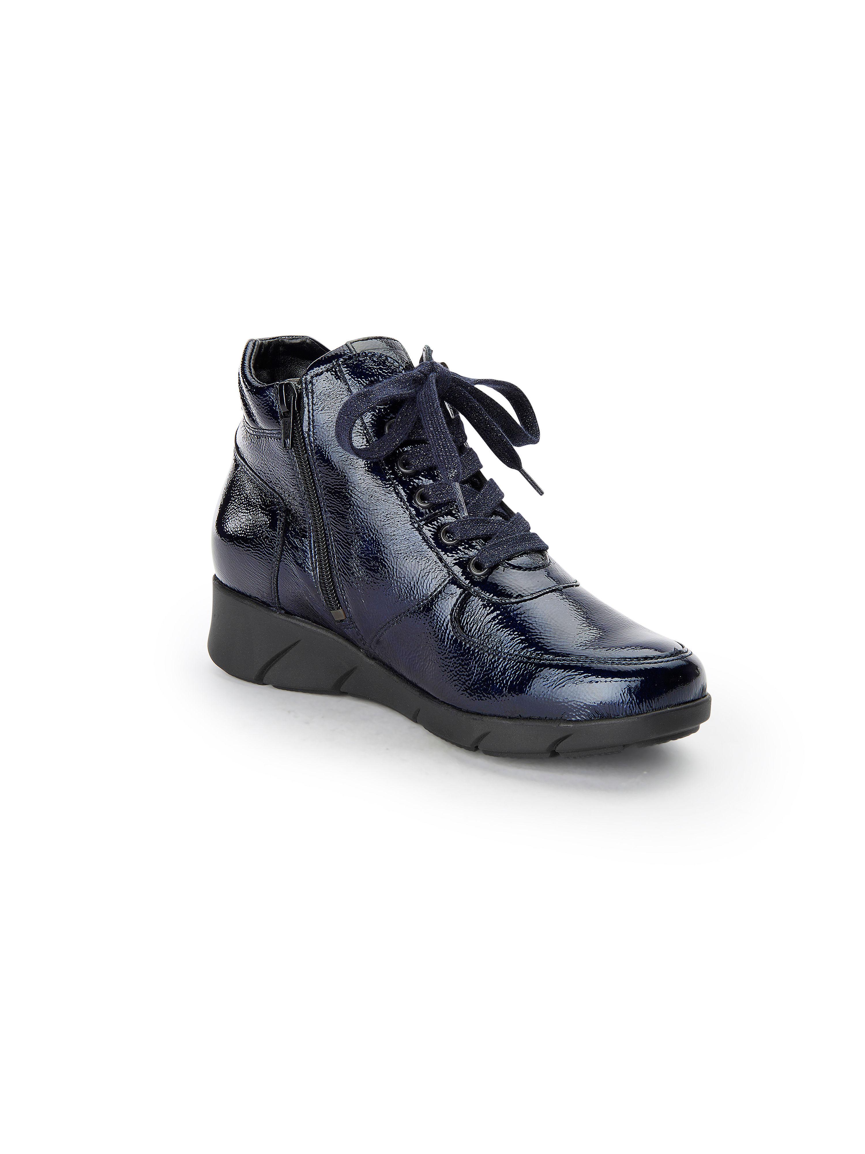 Waldläufer - Schnür-Stiefelette Kaina aus 100% Leder - Marine Gute Qualität beliebte Schuhe