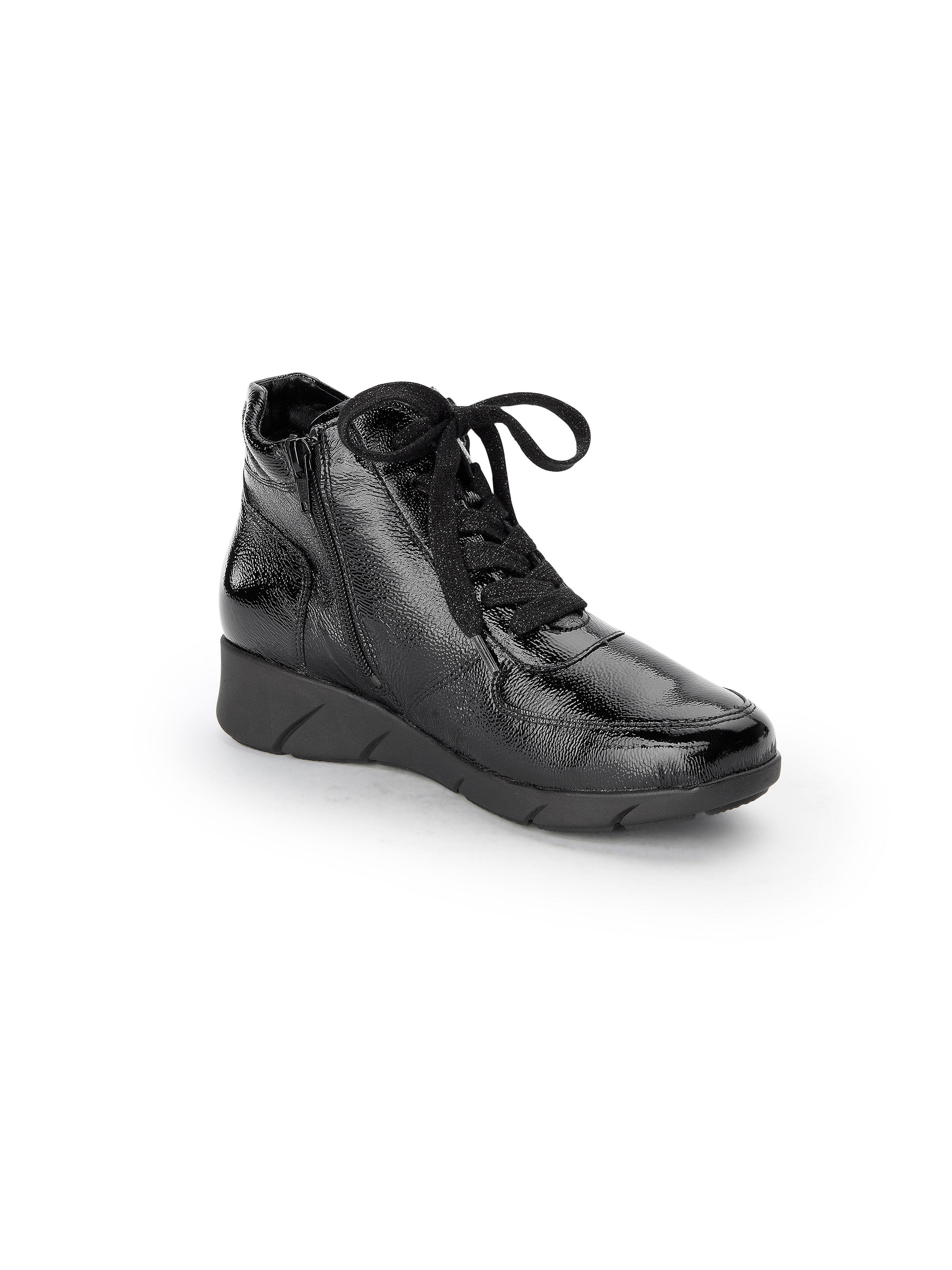 Waldläufer - Schnür-Stiefelette Kaina aus 100% Leder - Schwarz Gute Qualität beliebte Schuhe