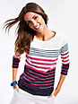 Brax Feel Good - Striped top with 3/4-length sleeves
