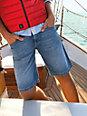 Bugatti - Jeans-Bermuda mit Wasch-Effekten