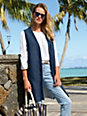 DAY.LIKE - Long knitted waistcoat with v-neck