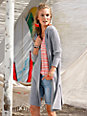 FLUFFY EARS - Long-Strickjacke aus 100% Kaschmir