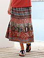Green Cotton - Jersey skirt with ethnic pattern