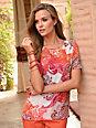 Laura Biagiotti Donna - Le T-shirt chemisier imprimé en pure soie