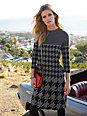 Looxent - Jersey-Kleid mit neu inszenierten Hahnentritt