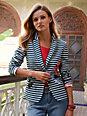Looxent - Le blazer en jersey, imprimé rayures et fleurs