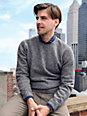 Peter Hahn - Bluse med rund hals af 100% uld