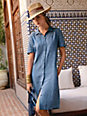 Peter Hahn - Dress with short sleeves in 100% linen