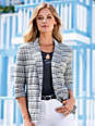 Peter Hahn - Jersey blazer with 3/4-length sleeves