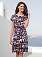 Peter Hahn - Jersey-Kleid mit überschnittenem 1/2-Arm