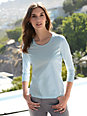 Windsor - Round neck top with 3/4-length sleeves