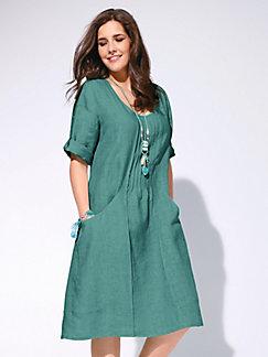 72c061def7b8b Anna Aura - Kleid aus 100% Leinen mit 3/4-Arm