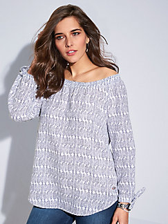 FRAPP - Blouse with 3/4-length sleeves