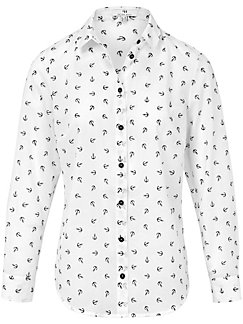 Peter Hahn - Blouse with nautical print