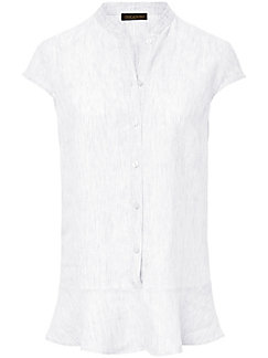 Inkadoro - Blouse with small cap sleeves in 100% linen
