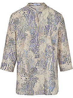 Peter Hahn - Blouse with turn-up sleeves in 100% linen