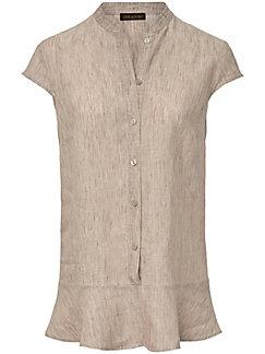 Inkadoro - Bluse aus 100% Leinen mit kleinem Flügel-Arm