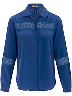 Uta Raasch - Bluse aus 100% Seide mit Bubi-Kragen
