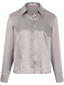 Peter Hahn - Bluse aus 100% Seide mit Hemdkragen