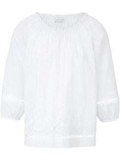 Just White - Bluse im Carmen-Stil
